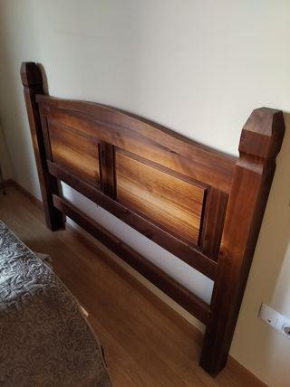 Cabecero cama matrimonio de madera