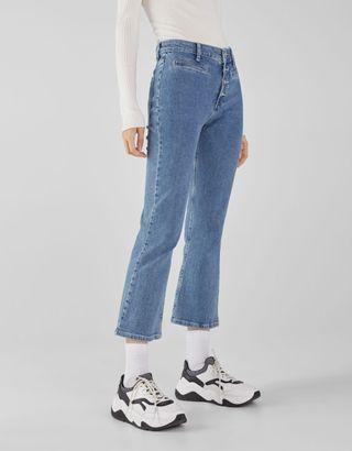 Pantalones Jeans Flare Bershka 36