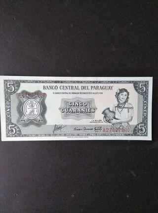 Paraguay 5 guaraníes. SC