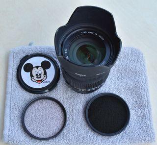 Objetivo Sigma 18-200 para Nikon + 3 filtros