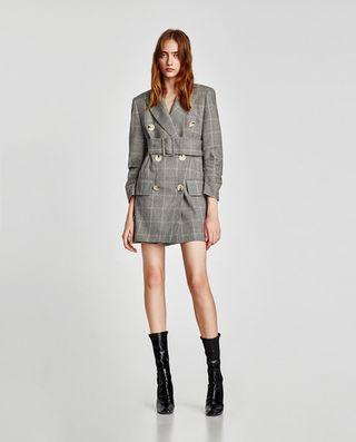 Vestido blazer Zara cuadros