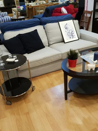 sofa 3 plazas gris claro ikea