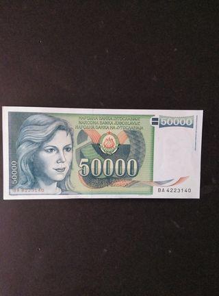 Yugoslavia 50.000 dinares. SC