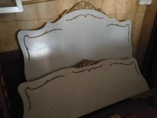 cabecero y pie de cama antiguo