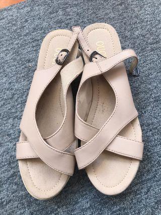 Sandalias cuñas mujer