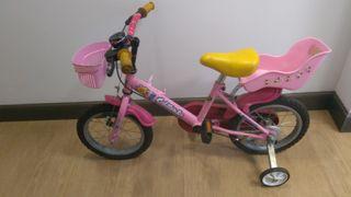 Bici de niña rueda 12 pulgadas.