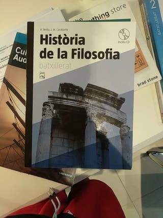 Libro historia de filosofía bachillerato en catala