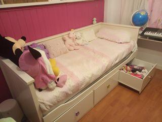 diván sofá cama doble con cajones