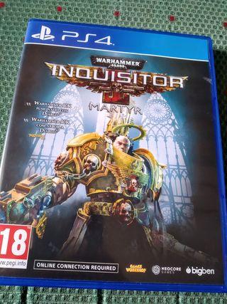 Juego de acción Warhammer Inquisitor Martyr Ps4