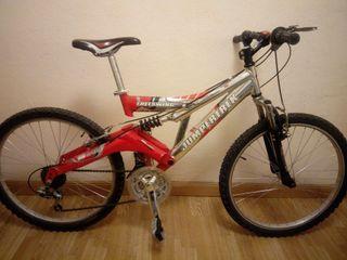 Bicicleta de montaña. 24 pulgadas.Doble suspensión