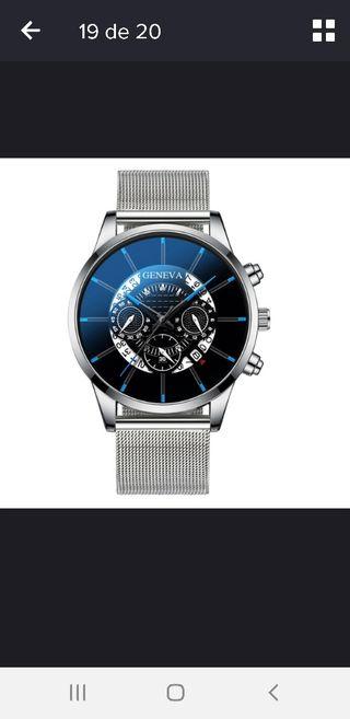 reloj nuevo plateado
