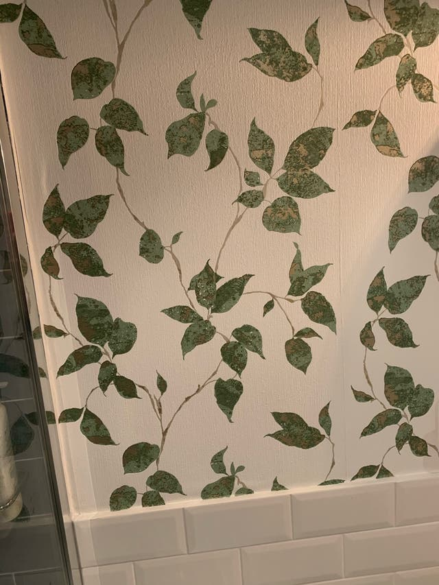 Papel pintado lavable hojas