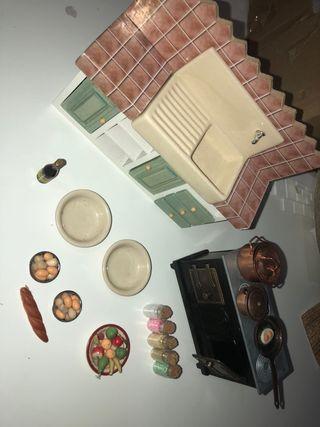 Casa de muñecas cocina