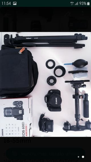 Canon 600D + objetivo 18-55