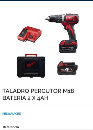 Taladro percutor milwaukee
