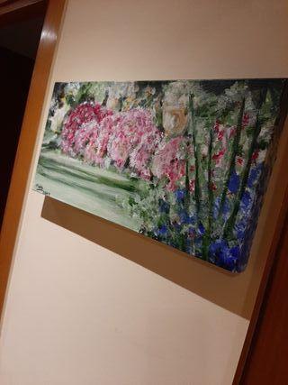 Cuadro de flores primaverales