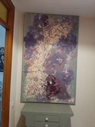 Cuadro abstracto hortensias