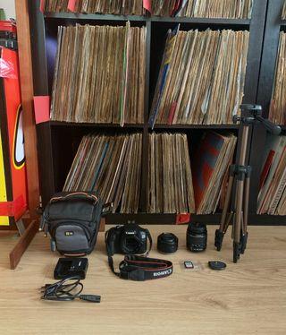 Canon 4000d + Objetivos + Tarjeta SD + Trípode