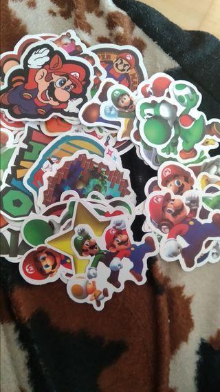 pegatinas Mario Bross lote de 10