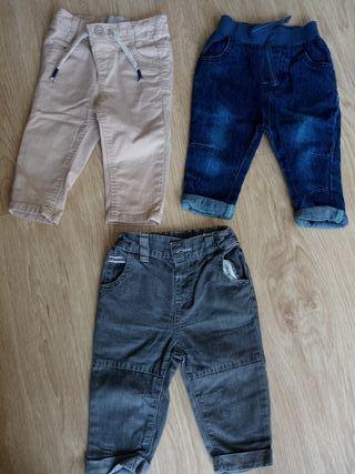Pack 3 pantalones bebe 0-3 meses