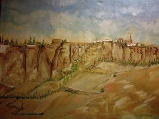 cuadro paisaje de Ronda