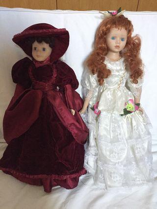 Dos Muñecas de porcelana
