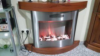 Estufa eléctrica chimenea