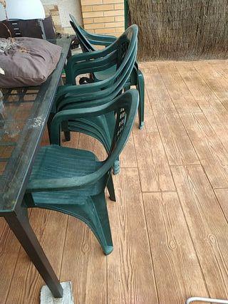 conjunto 6 sillas jardín