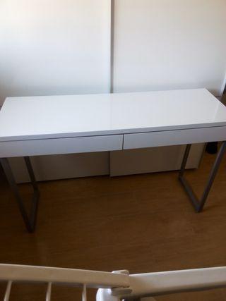 mesa escritorio lacado blanco