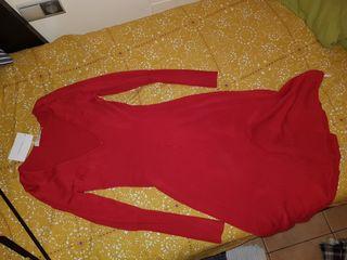 vestido rojo sin estrenar con etiqueta