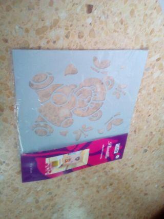 plantilla adhesivo renovible 30 X 38 cm nuevo!!!