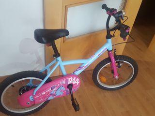bicicleta Btwin para niña entre 4 y 7 años