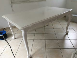 mesa con 6 sillas estilo LuisXV