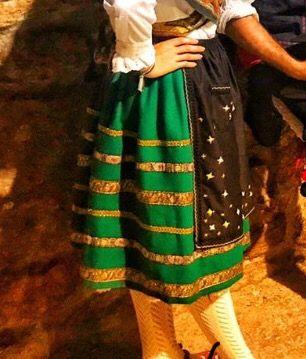 Refajo, falda traje regional