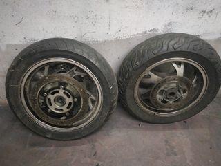 "juego de ruedas Suzuki burgman 400 08"""