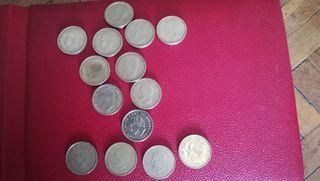 14 monedas de 100 pesetas de Juan Carlos I