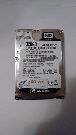 Disco duro WESTERN DIGITAL BLACK 320GB 7200RPM