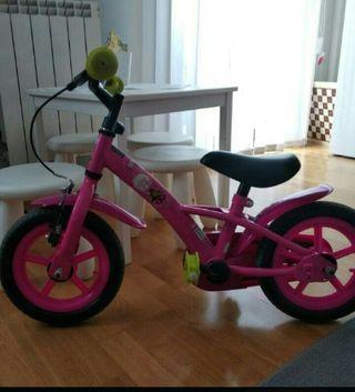 bicicleta niña 10 pulgadas 2-4 años
