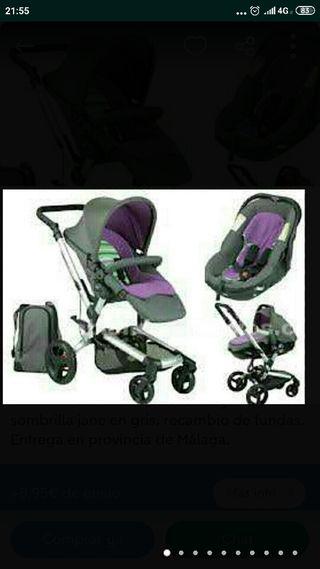 Trio Jane:silla,maxicosi,cuco,bolsa,saco