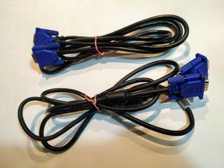 2 cables VGA monitor