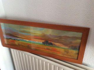Cuadro marco madera de 37 x97 con cristal