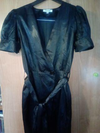 Vestido- Albornoz Negro.