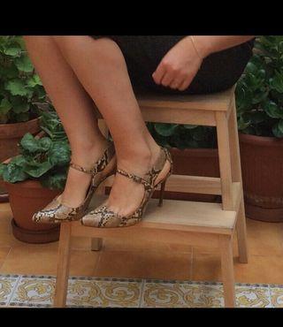 Zapatos estampado serpiente