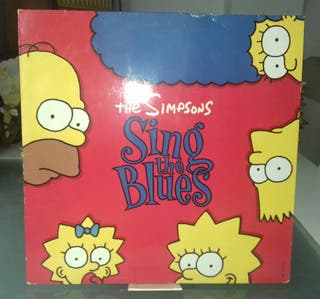 DISCO VINILO THE SIMPSONS,SING THE BLUES.