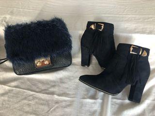 Bolso botines y chaqueta