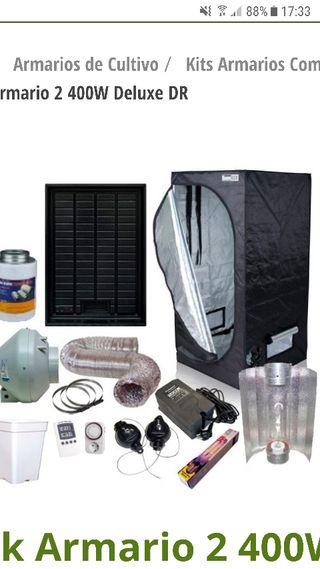 kit armari interior cooltube darkbox 1x1x2 400w