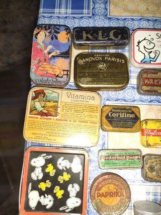lote colección cajitas cajas chapa 24