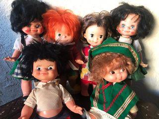 Lote de muñecos antiguos de los 70