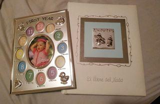 libro y marco bebe