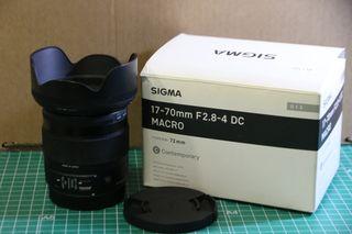 Objetivo Sigma 17-70 2.8/4 para Canon